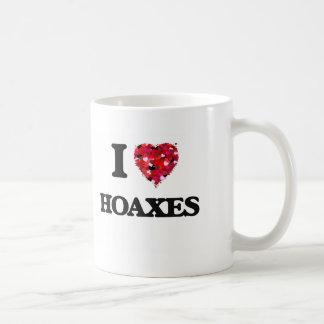 I Love Hoaxes Basic White Mug