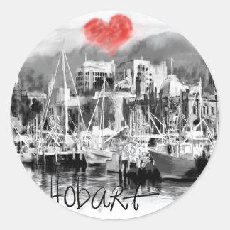 I love Hobart Classic Round Sticker