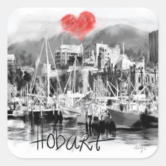 I love Hobart Square Sticker