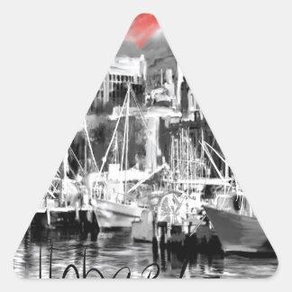 I love Hobart Triangle Sticker