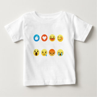 I Love Hockey Emoticon (emoji) Social (white font) Baby T-Shirt