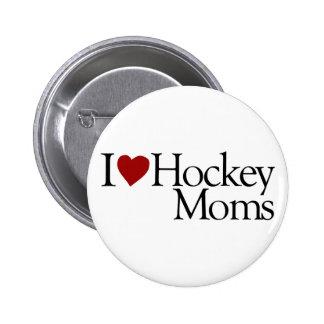 I Love Hockey Moms Sarah Palin Pin