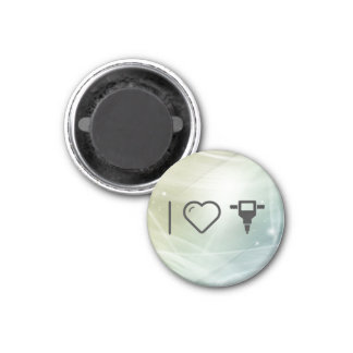 I Love Hole Diggers 3 Cm Round Magnet