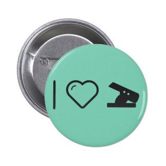 I Love Hole Punch 6 Cm Round Badge