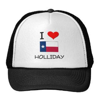 I Love Holliday Texas Trucker Hats