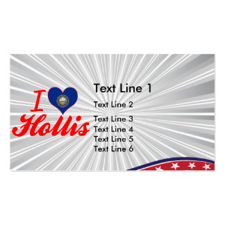 I Love Hollis New Hampshire Business Card Template