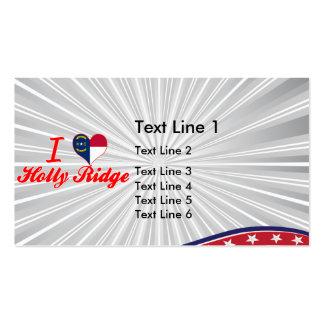 I Love Holly Ridge North Carolina Business Card Templates