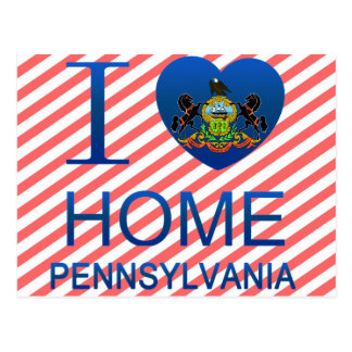 I Love Home, PA Postcard