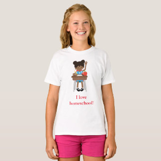 I love home school little girl T-Shirt