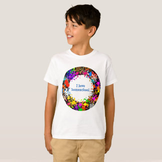 I love homeschool paint splatter T-Shirt