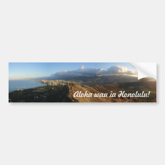 """""""I love Honolulu!"""" Bumper Sticker"""