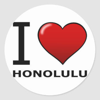 I LOVE HONOLULU,HI - HAWAII STICKERS