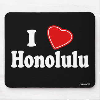 I Love Honolulu Mouse Pad