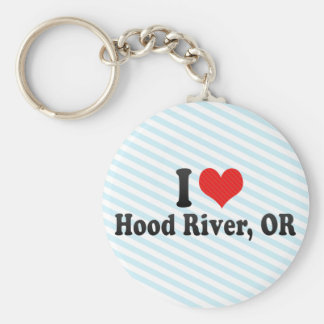 I Love Hood River, OR Basic Round Button Key Ring