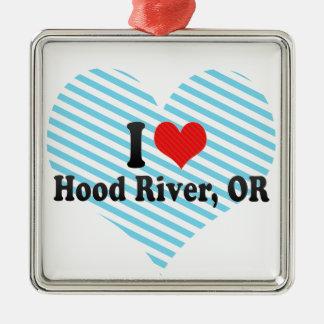I Love Hood River, OR Metal Ornament