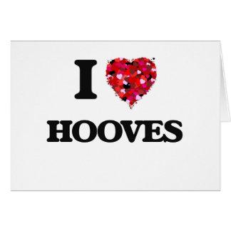 I Love Hooves Greeting Card