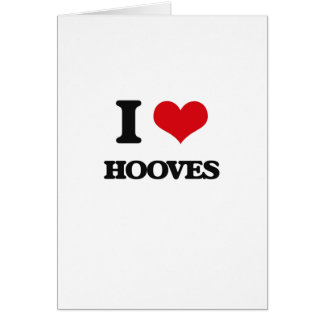 I love Hooves Greeting Card