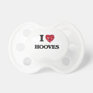 I Love Hooves Baby Pacifiers