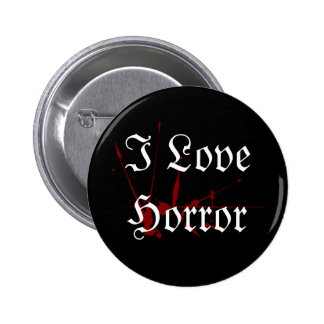 I Love Horror button
