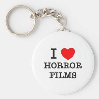 I Love Horror Films Keychain