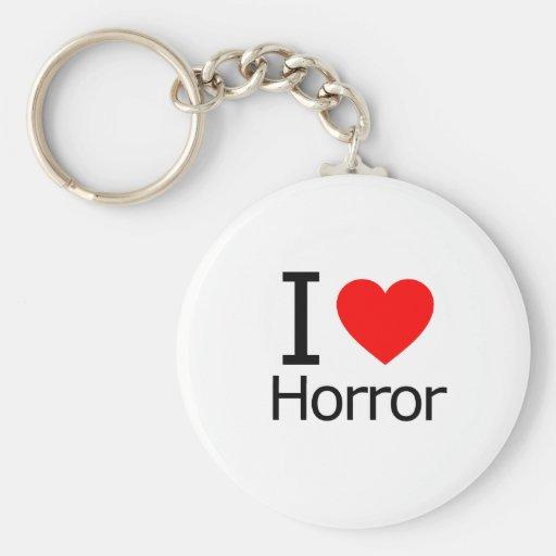 I Love Horror Key Chain