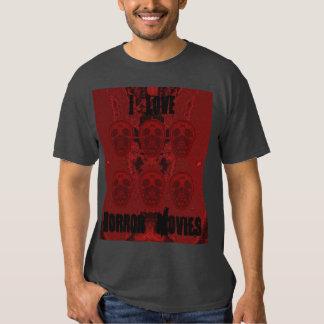 I Love Horror Movies Tee Shirt