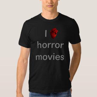 I love horror movies tshirt