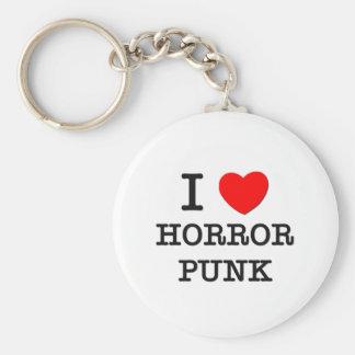 I Love Horror Punk Key Chains