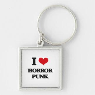 I Love HORROR PUNK Key Chain