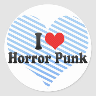 I Love Horror Punk Sticker