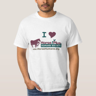 I Love Horse Plus Humane Society - Mens T-Shirt