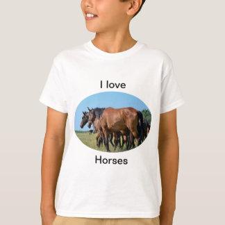I love Horses Beautiful Bay Horse T Shirt