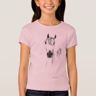 I Love Horses Girls Baby Doll Shirt