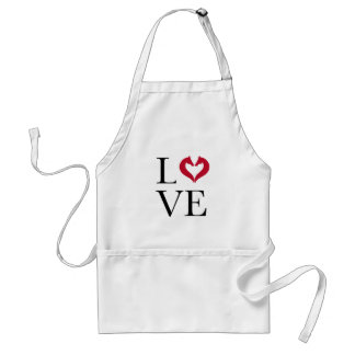 I love horses, heart with horse heads standard apron