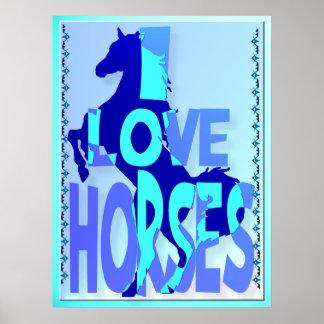 I Love Horses Poster
