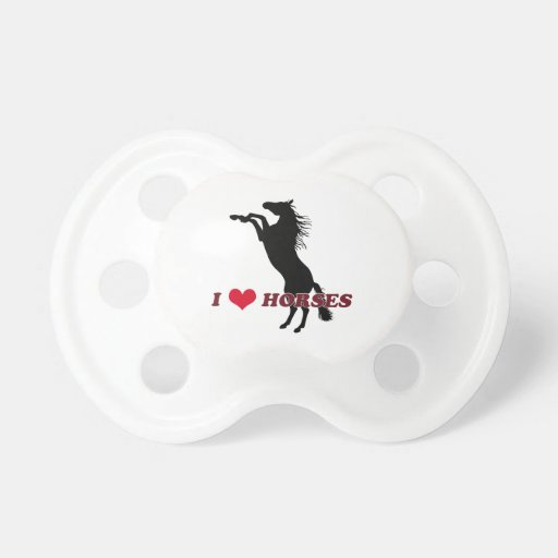 I Love Horses - Rearing Pacifier
