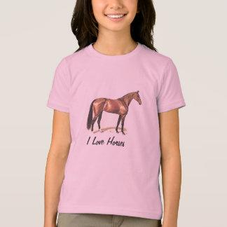 I LOVE HORSES Thoroughbred Horse T-Shirt