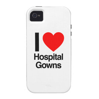 i love hospital gowns vibe iPhone 4 case