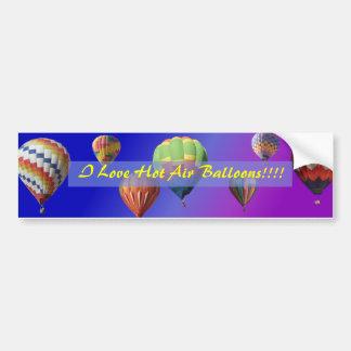 I Love Hot Air Balloons!!!! Bumper Sticker Car Bumper Sticker