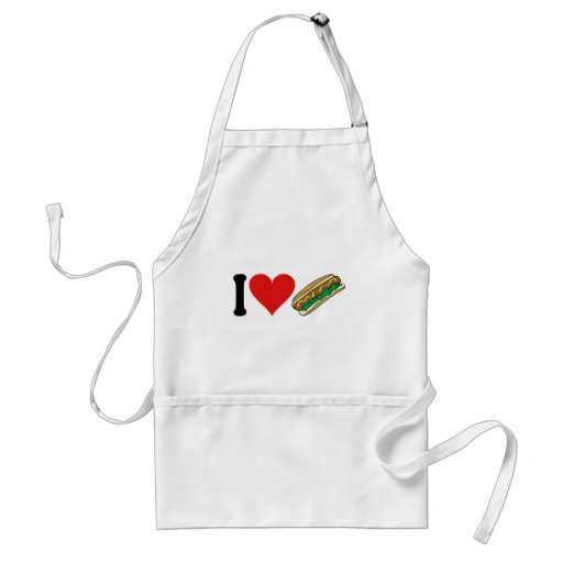 I Love Hot Dogs * Aprons