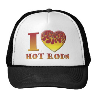 I Love Hot Rods Hats