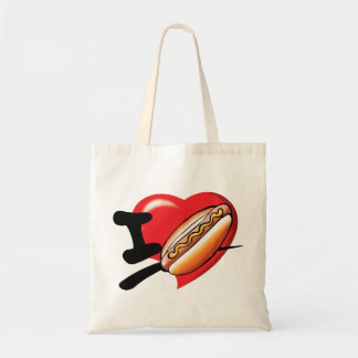 I Love Hotdogs Tote Bag