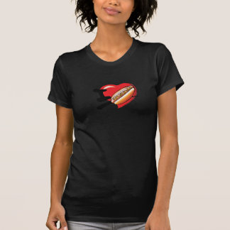 I Love Hotdogs Womens T-Shirt