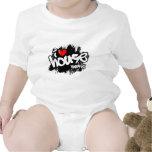 I Love House Music Baby Bodysuits