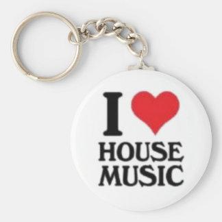 I Love House Music Keychain