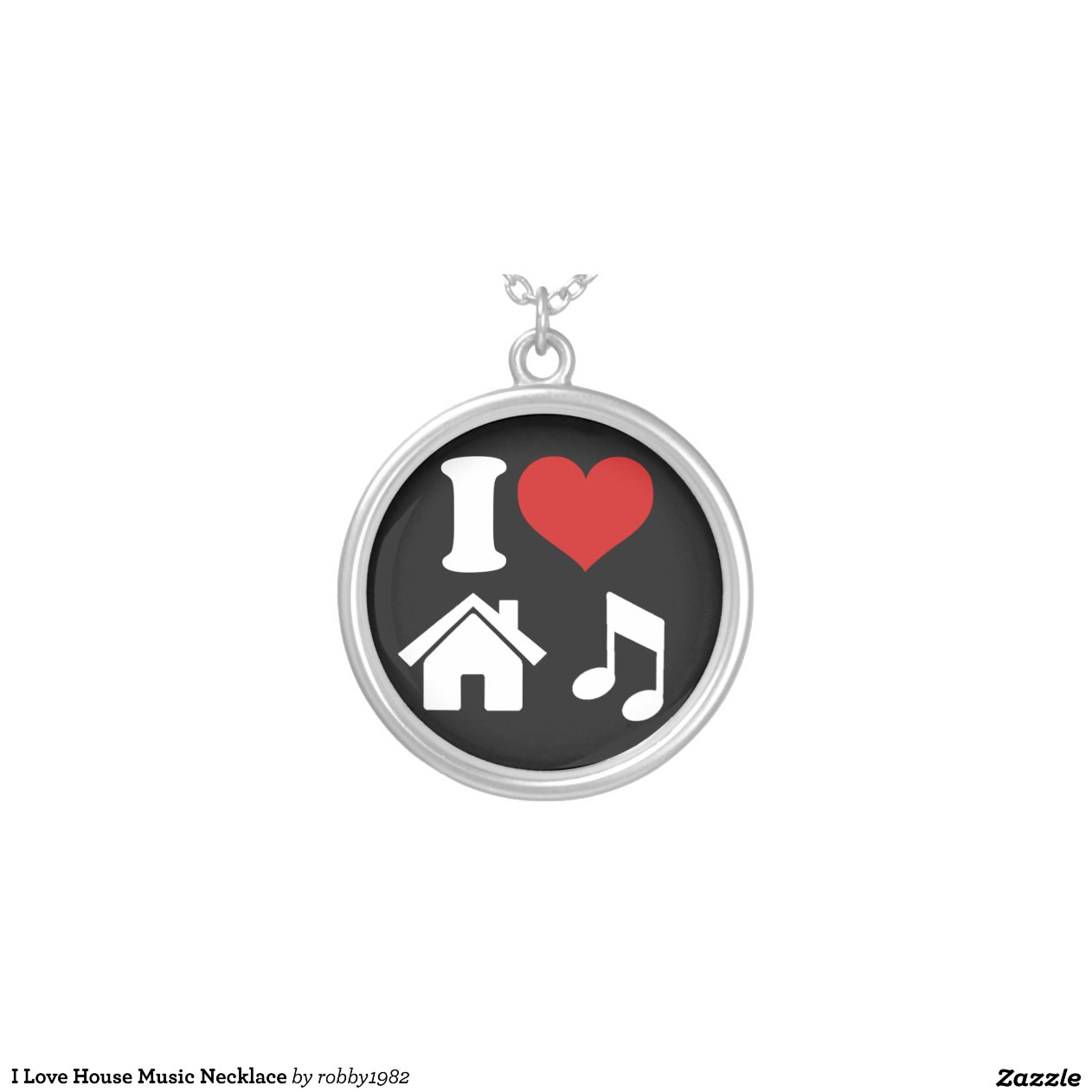 I love house music necklace necklace zazzle for 93 house music