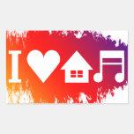 I love house music rectangle sticker