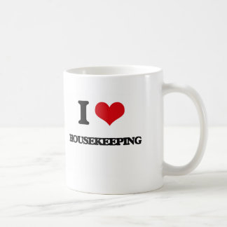 I love Housekeeping Basic White Mug