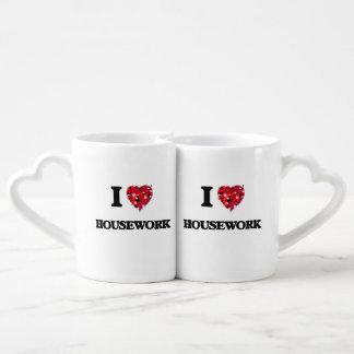 I Love Housework Couple Mugs