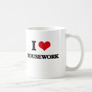 I love Housework Basic White Mug